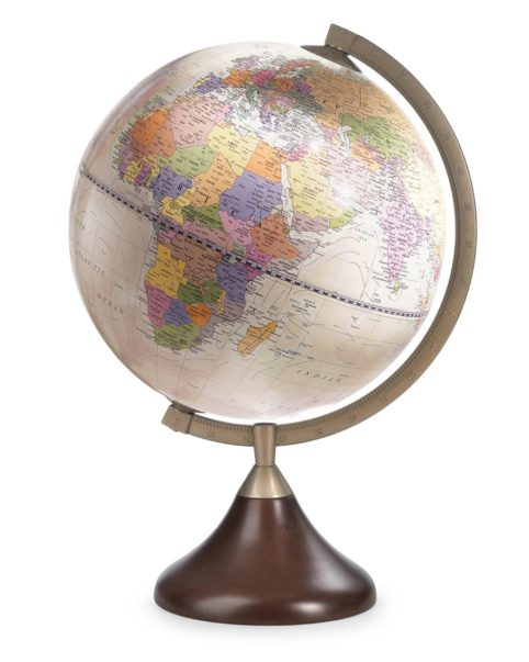 Product photo of Coronelli table globe, antique rose color