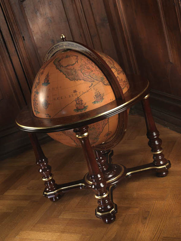 Elite vintage globe bar Afrodite - studio photo, closed