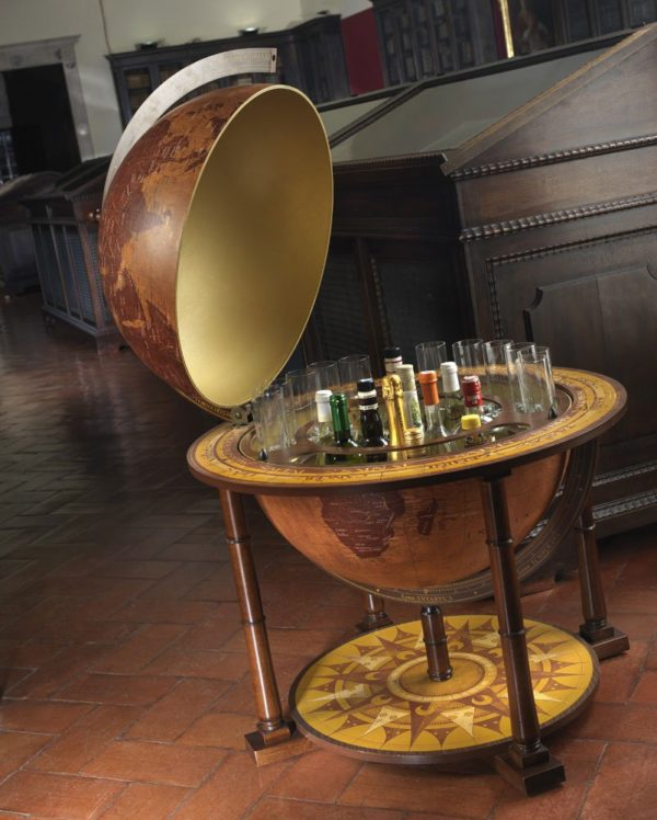 Gea Virgo contemporary globe bar - studio photo