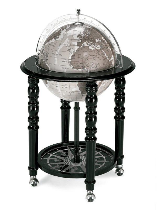 Designer Elegance modern globe bar - black, closed photo