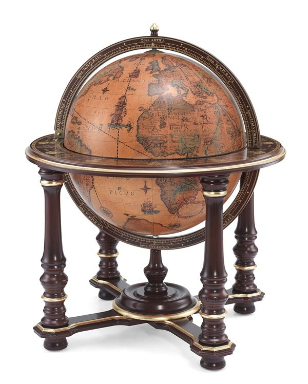 Elite floor globe bar Afrodite - product photo closed