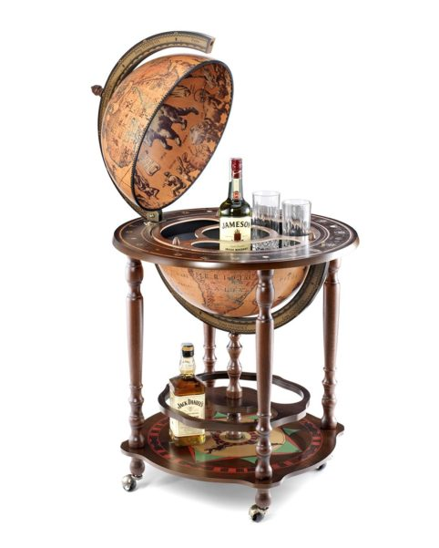 Product photo of the Minosse floor globe bar