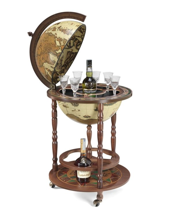 Image of the safari color Giunone floor globe bar