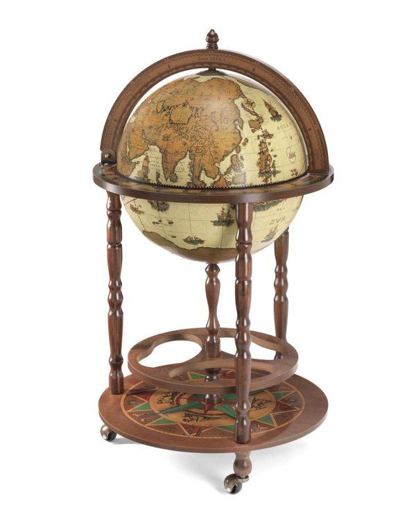 Image of the closed safari color Giunone floor globe bar