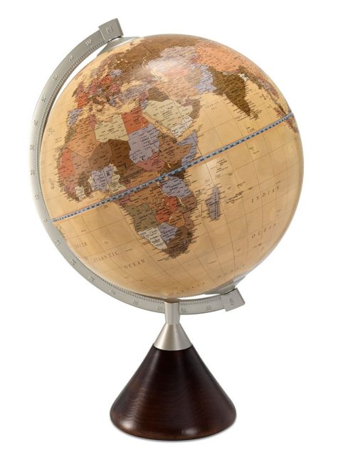 Coronelli desk globe apricot color