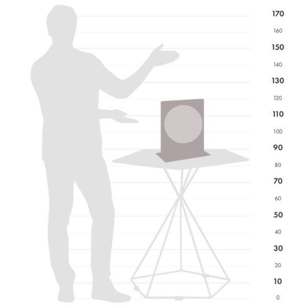 Italian Aria desk globe size chart