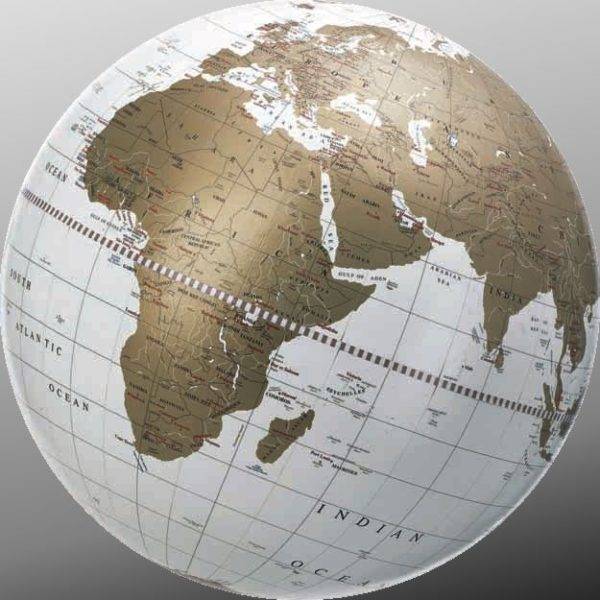 Geographica collection white globe map photo