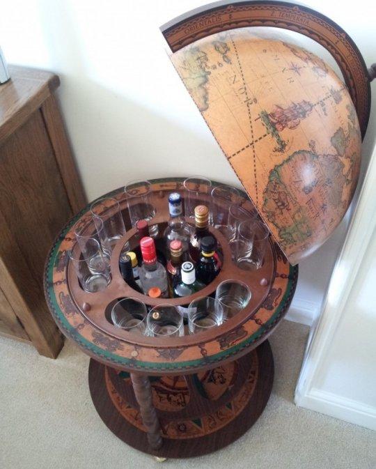 Calipso large floor globe bar - classic, customer photo