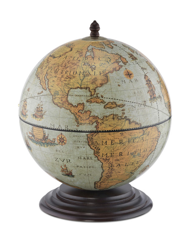 Fine Vintage table top bar globe - laguna, product photo - closed