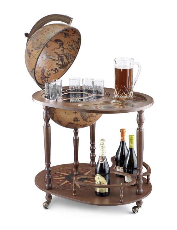 Royal server bar cart Giasone - catalog photo - open