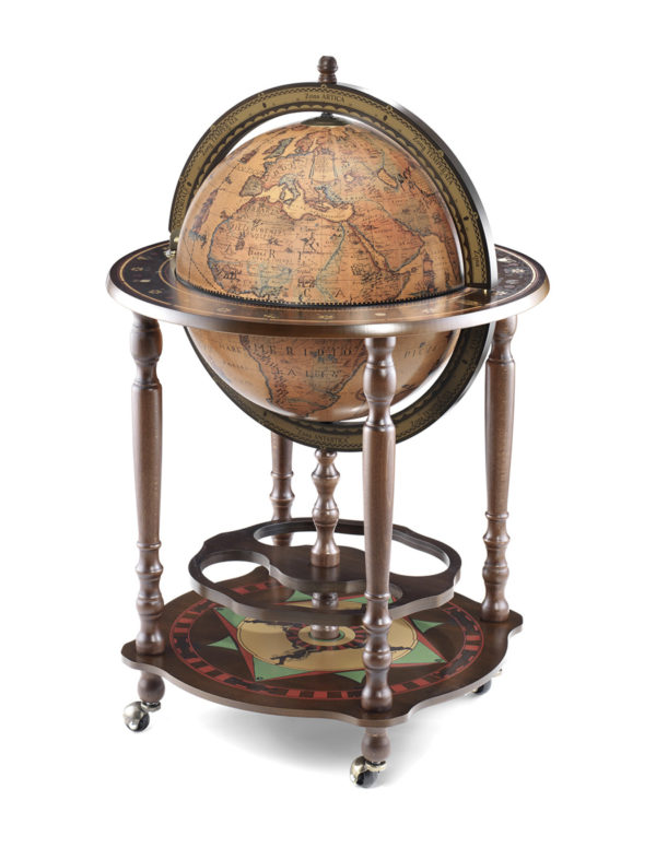 Product photo of the Minosse floor globe bar - closed