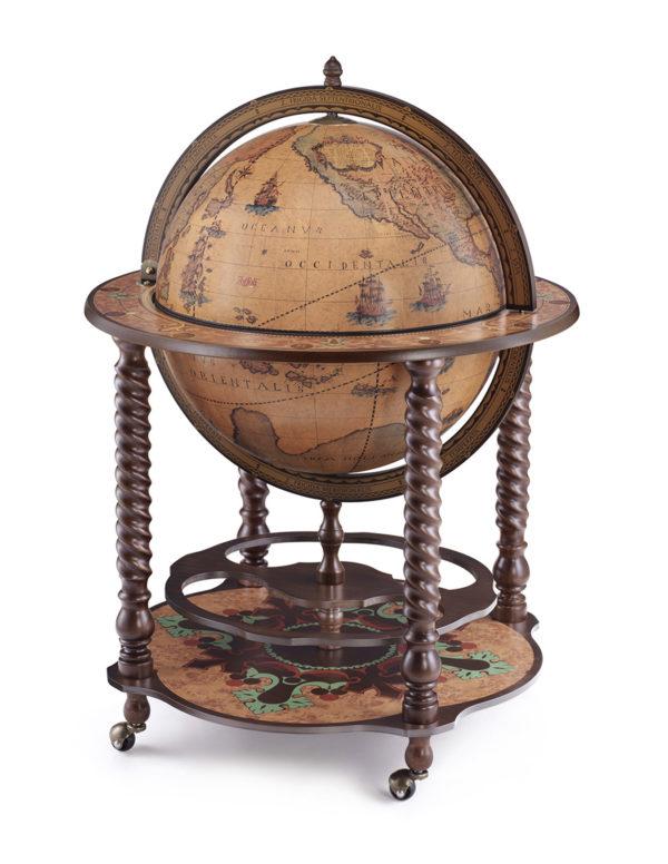 Catalog photo of the Noble Bacco spiral leg globe bar - closed