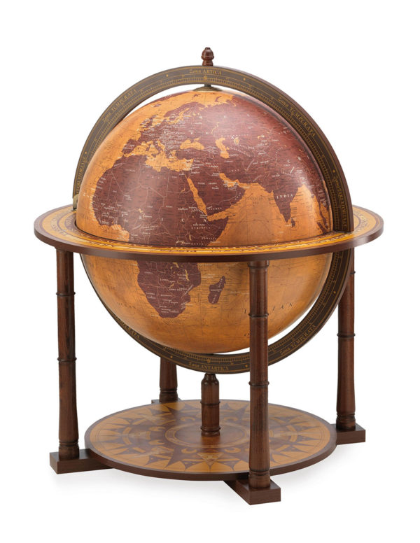 Gea Virgo contemporary globe bar - large photo - closed