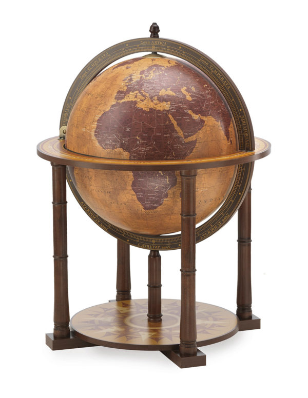 Gea Taurus modern globe bar - closed, large photo