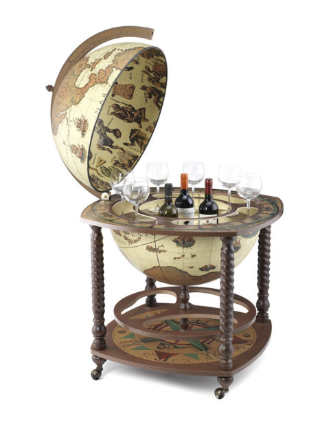 Caronte extra large globe bar cabinet - safari, product photo