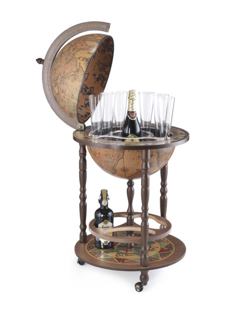 Image of the classic color Giunone floor globe bar
