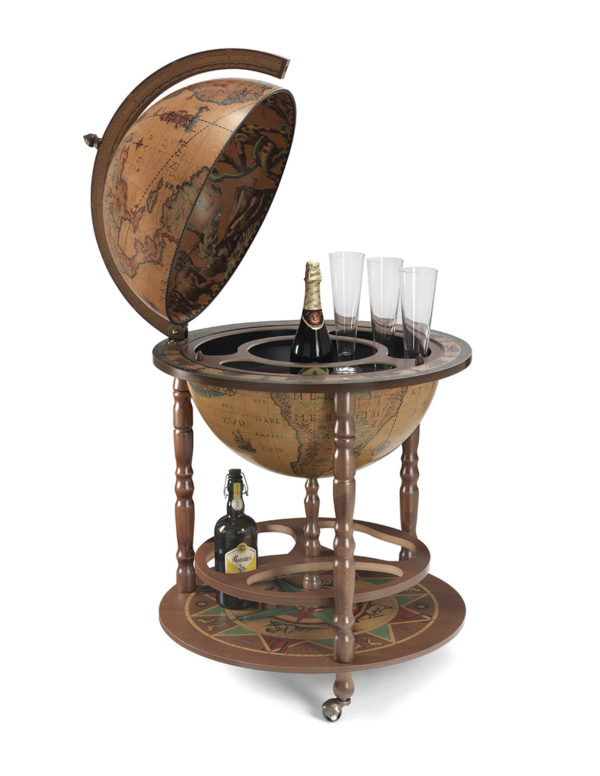 Image of the classic color Calipso large floor globe bar