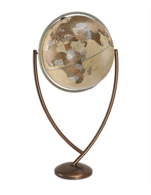 Colombo extra large political world globe - apricot, large product photo