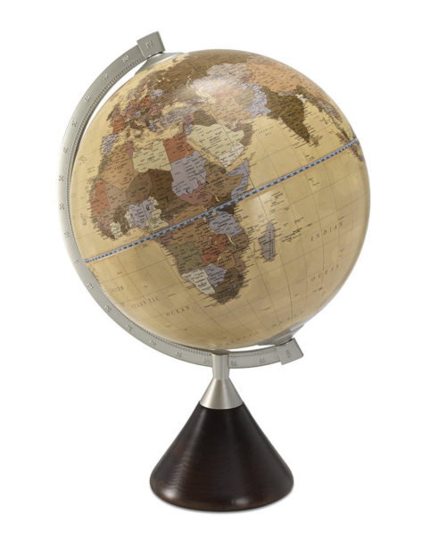 Coronelli desk globe apricot color - catalog photo