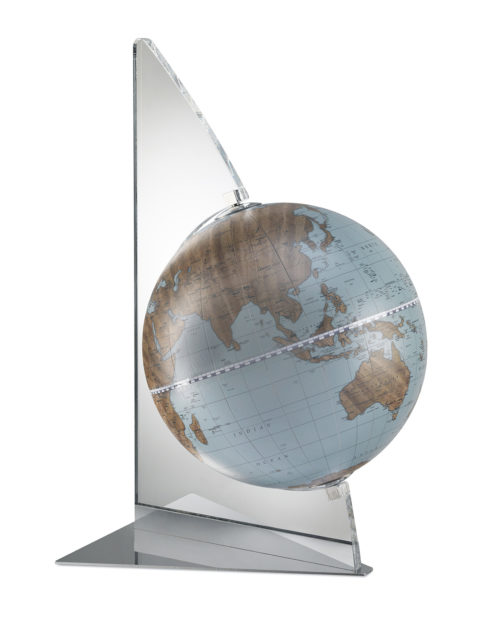 Catalog photo for the Floating Vela Small Desk Globe | Avio