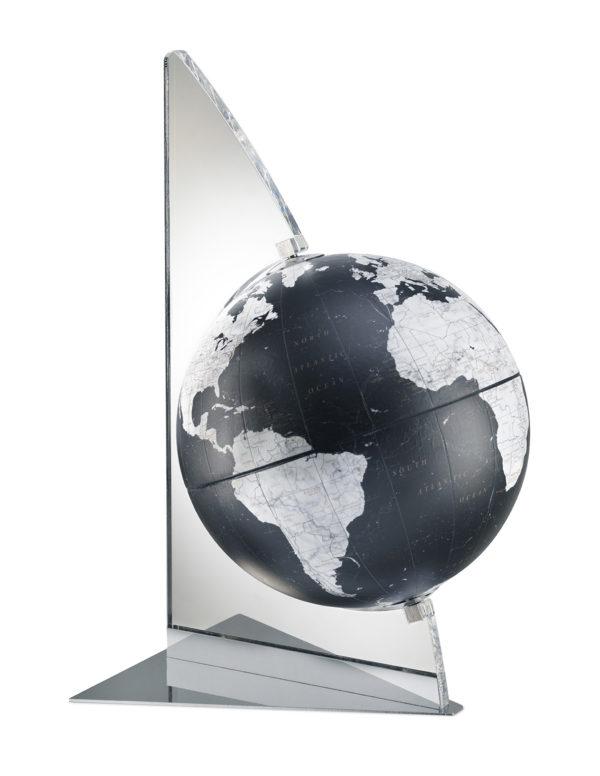 Catalog photo for the Floating Vela Small Desk Globe | Black