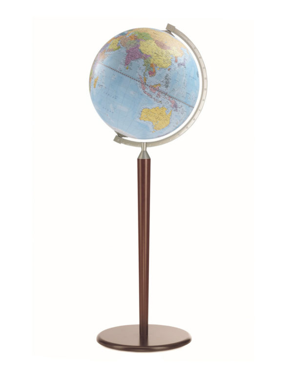 Image of Light Blue l Vasco da Gama Floor-Standing World Globe Z.920.01