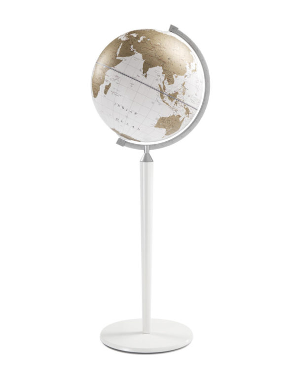 Vasco da Gama floor-standing world globe - white, product photo