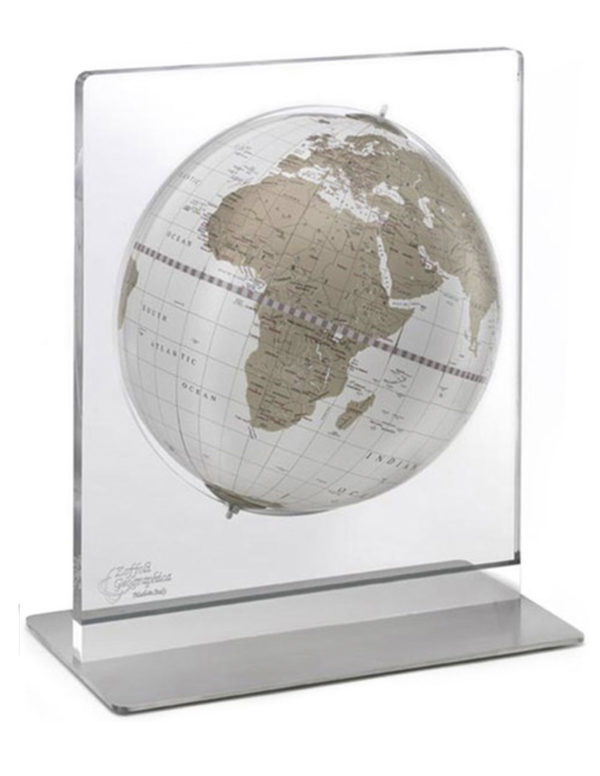 Product photo of white and gold Italian Aria desk globe