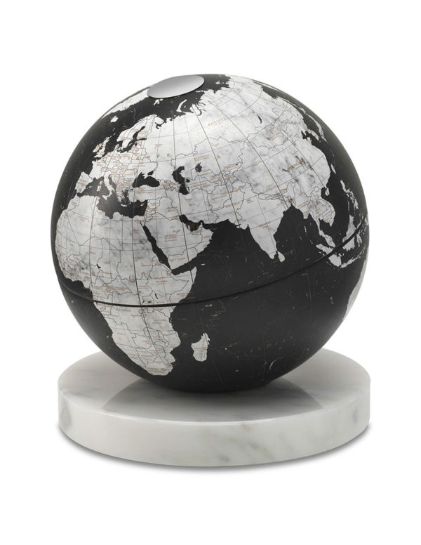 Catalog photo for black desk globe on marble base