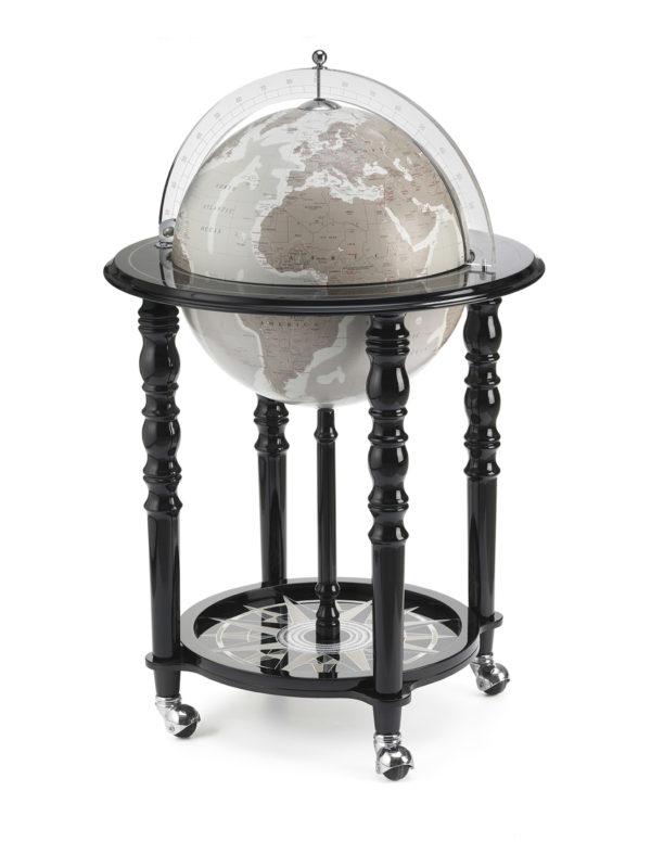 Image of Designer Elegance modern globe bar - black, product photo - closed