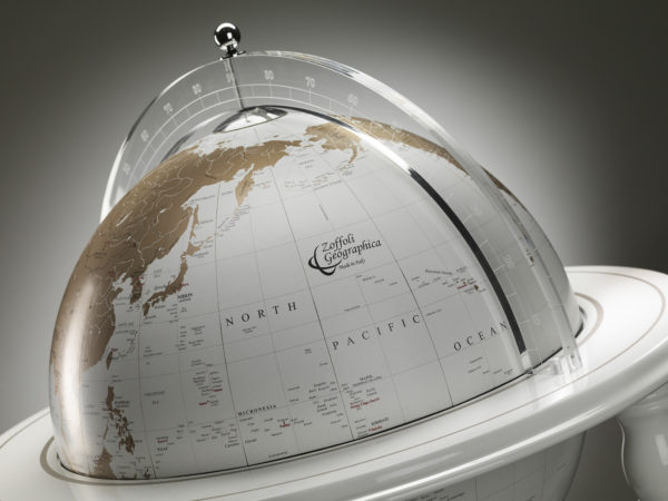 Designer Elegance Modern Globe Bar studio photo - white