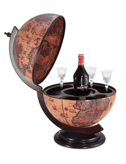 Sfera Small desk top bar globe - ebony, product photo