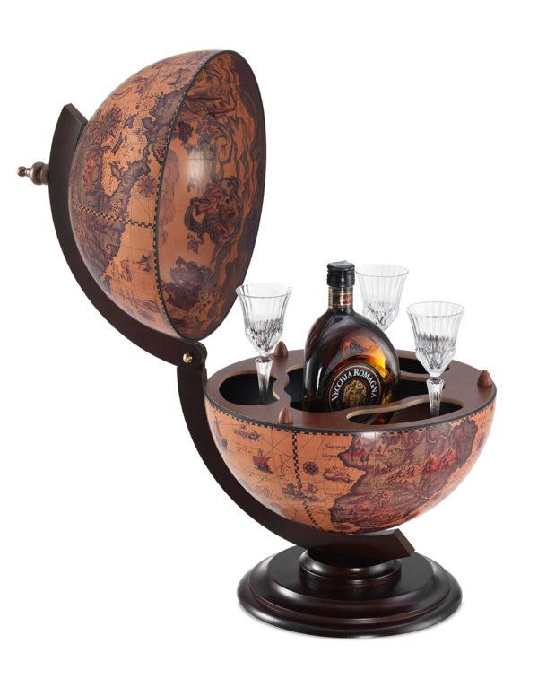 Sfera Mini desk top bar globe - ebony, product photo