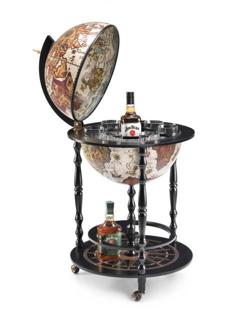 Raven Black Globe Cabinet Vulcano - product photo open