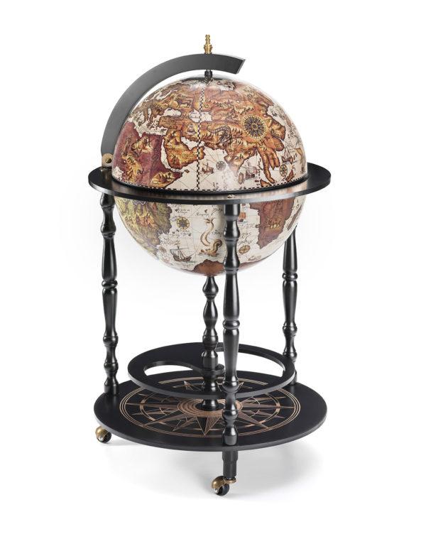 Raven Black Globe Cabinet Vulcano - product photo closed
