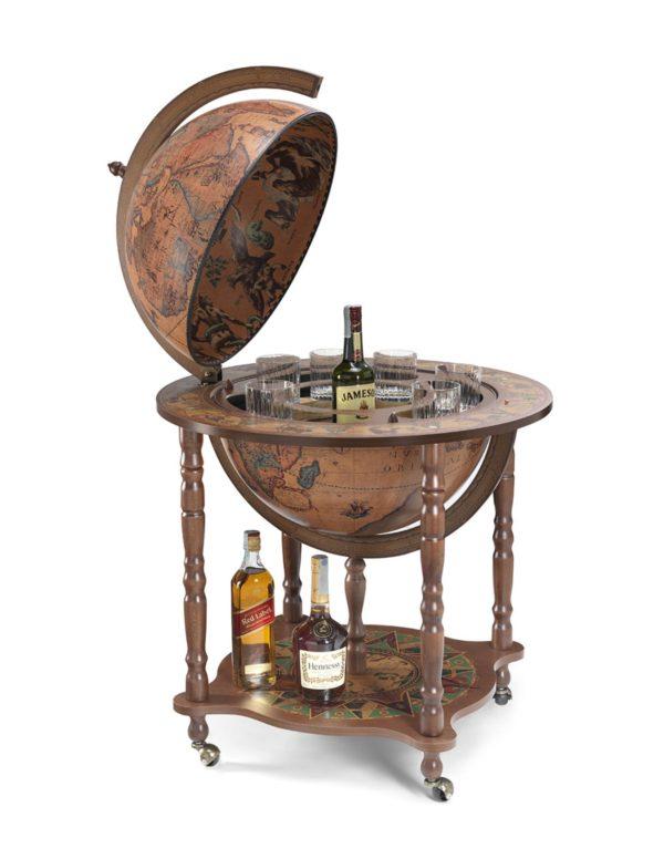 Catalog photo of the large Full Meridian Globe Bar Dedalo   Classic - open