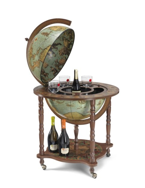 Catalog photo of the large Full Meridian Globe Bar Dedalo | Laguna - open