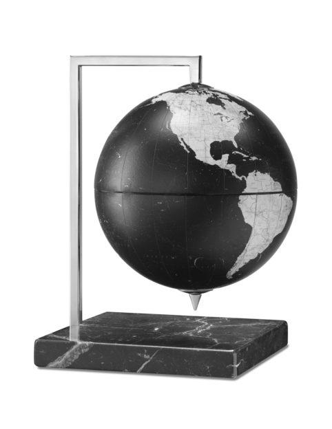Product photo of the black Quadra designer desk globe