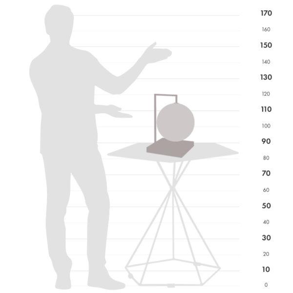 Size chart for the Quadra globe