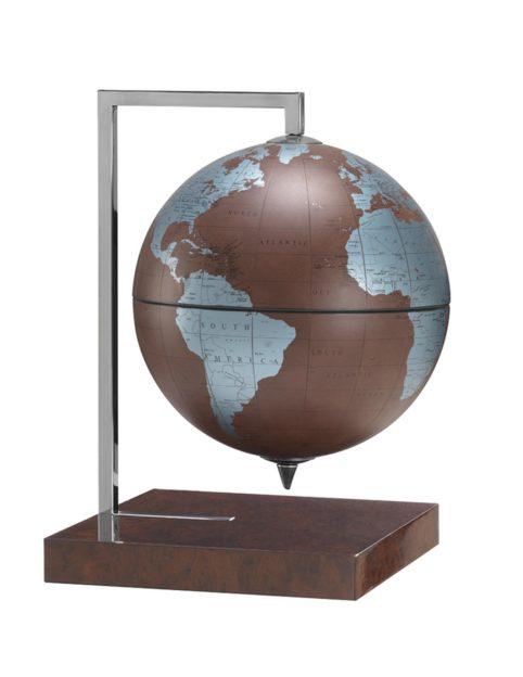 Product photo of the Quadra Designer Table Globe | Leather