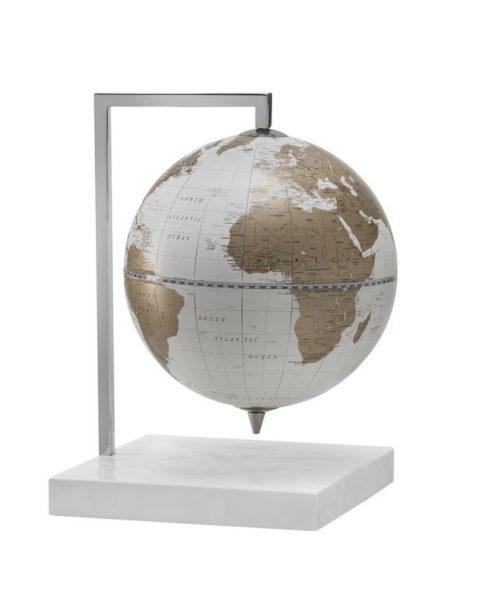 Product photo of the Quadra Designer Table Top Globe | White